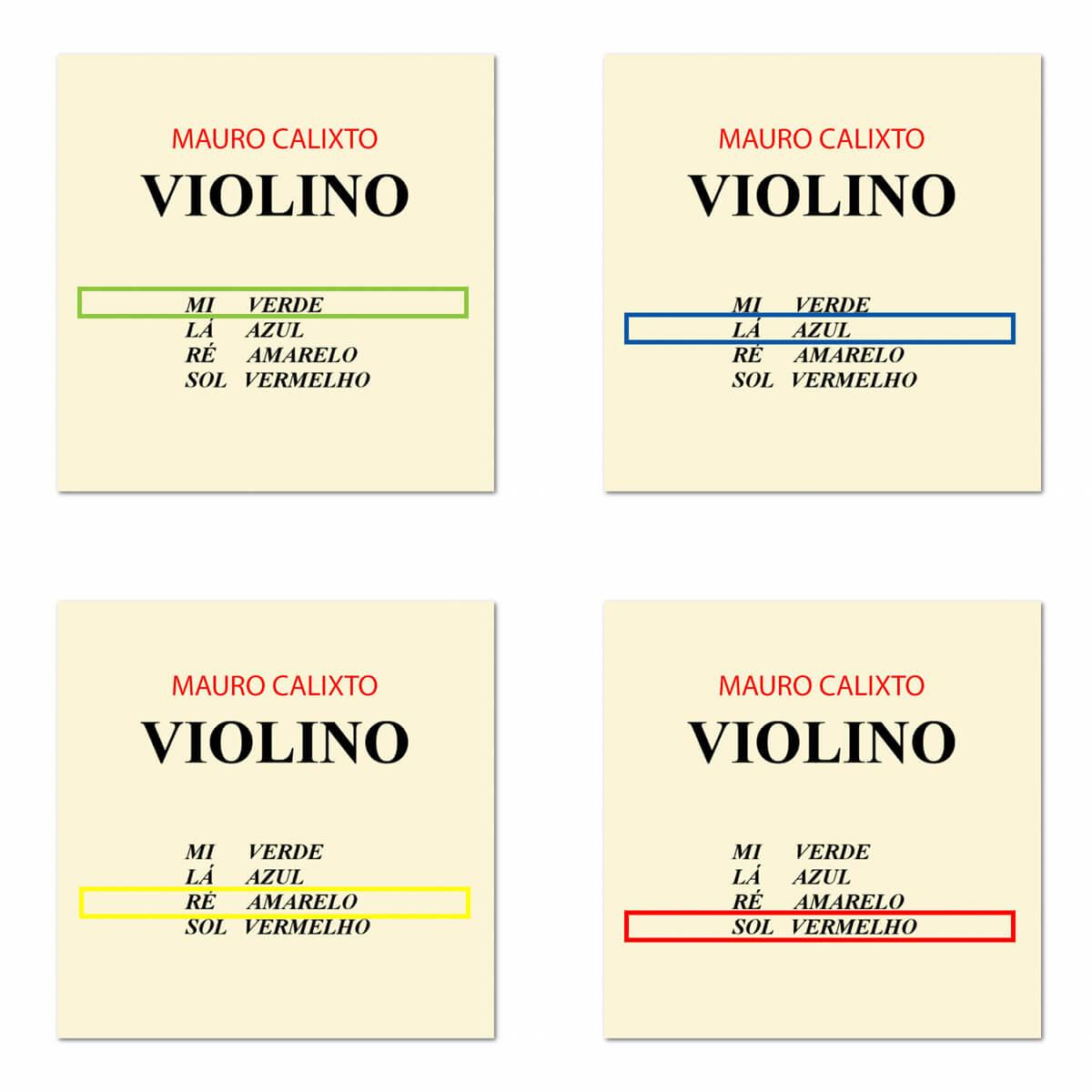 Corda Avulsa Para Violino - Mauro Calixto