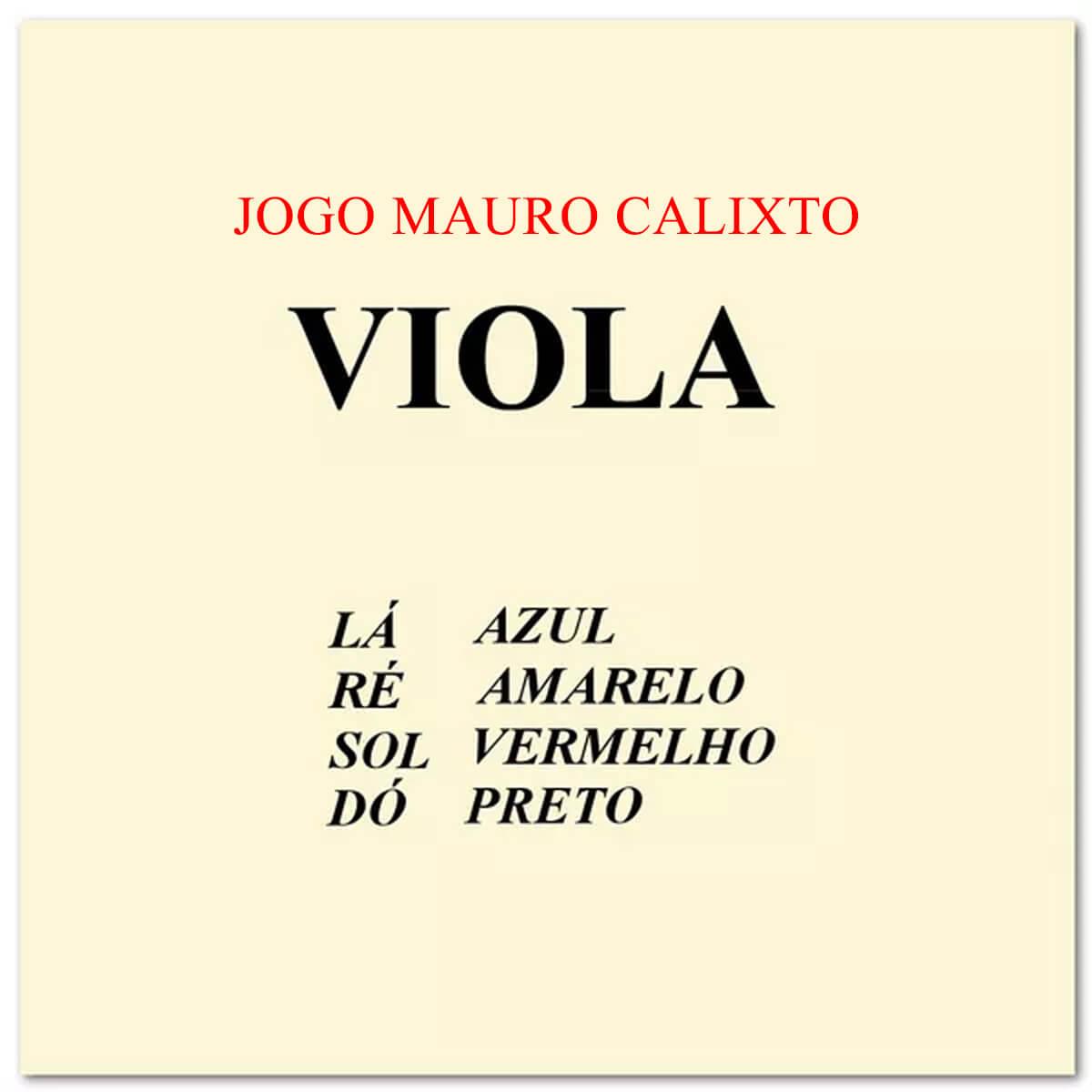 Encordoamento Para Viola - Mauro Calixto