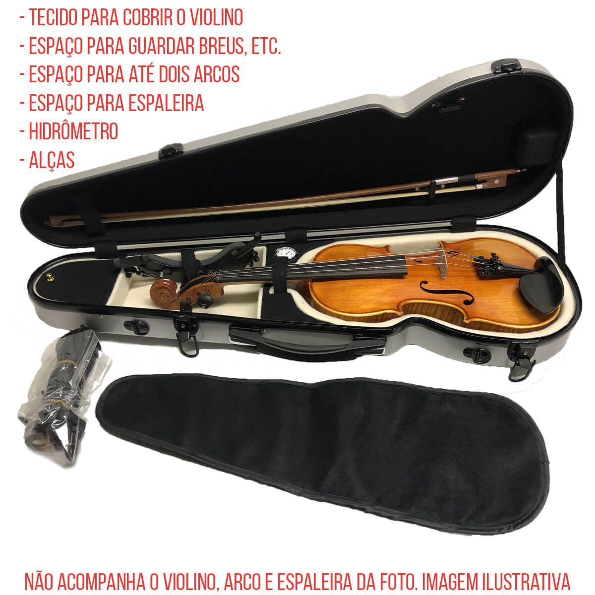 Estojo Para Violino 4/4 - Fibra De Vidro