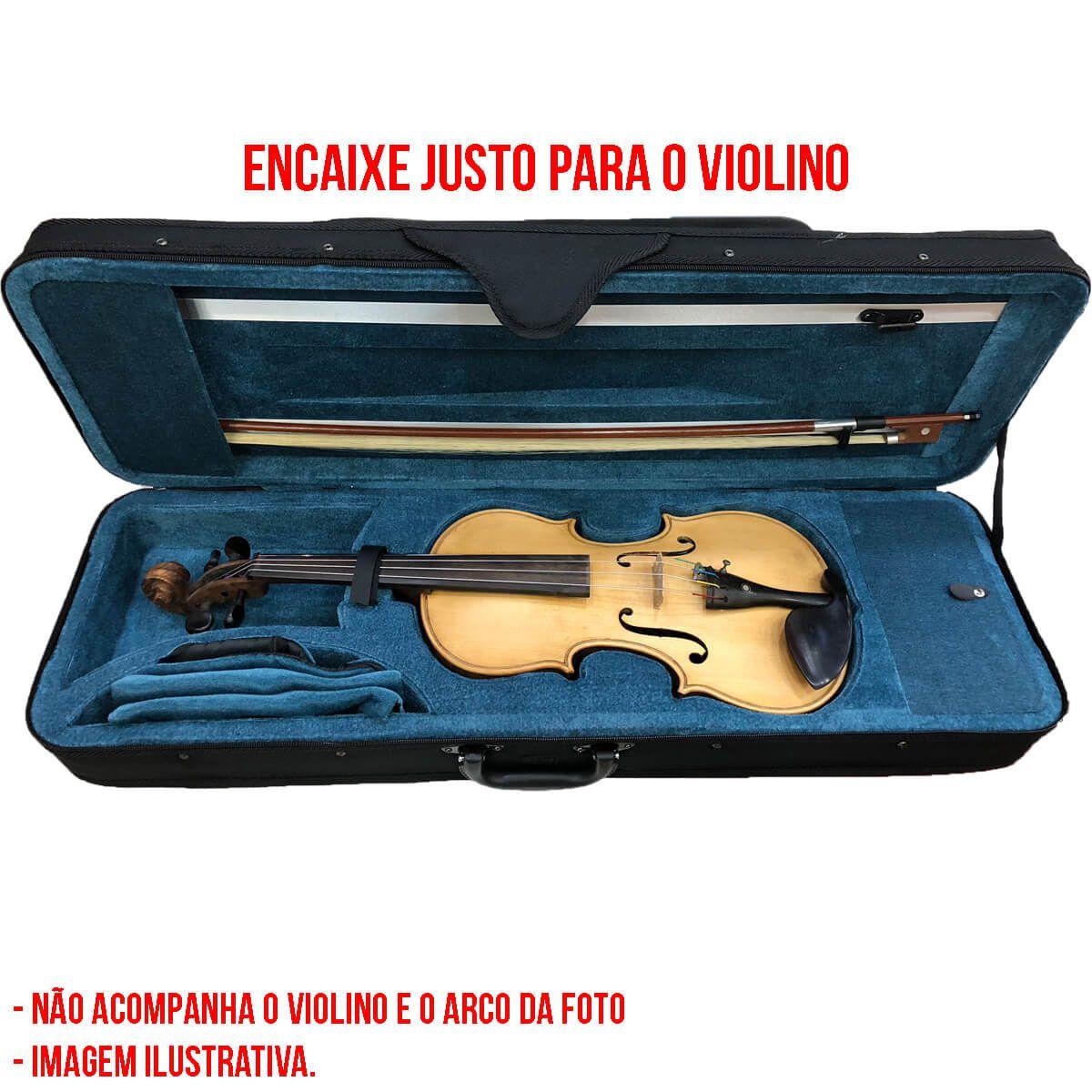 Estojo Para Violino 4/4 - Retangular