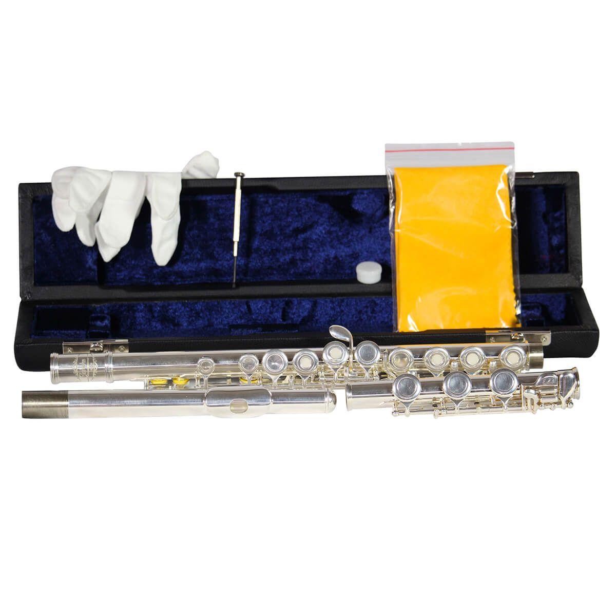 Flauta Transversal - Jahnke - Prata