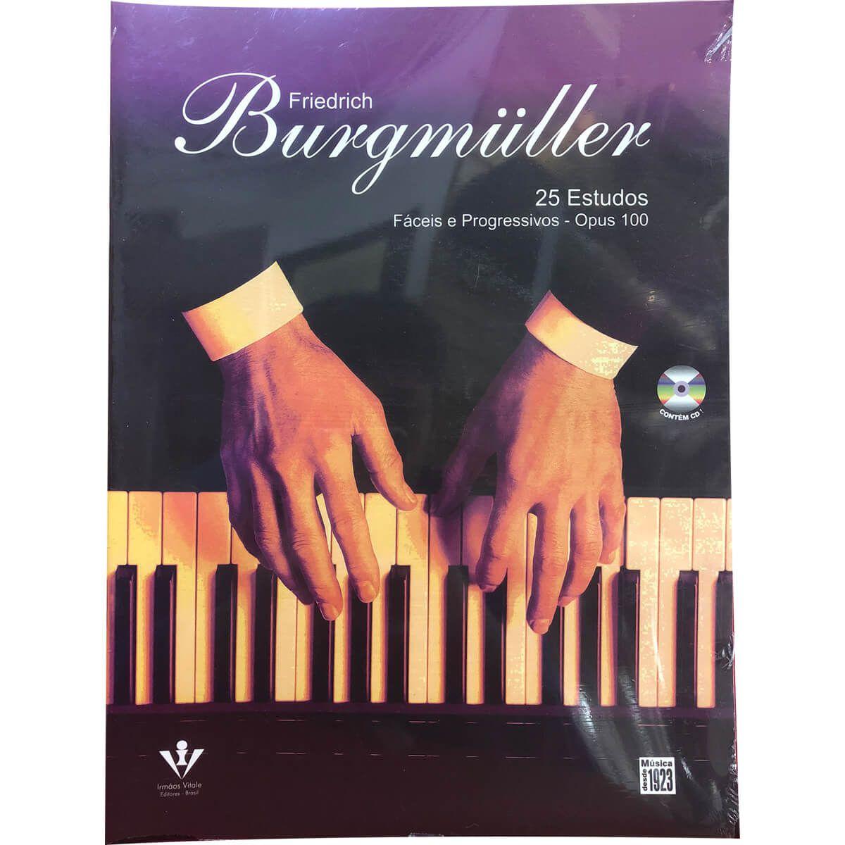 Método - Burgmuller - Piano - 25 Estudos Fáceis E Progressivos