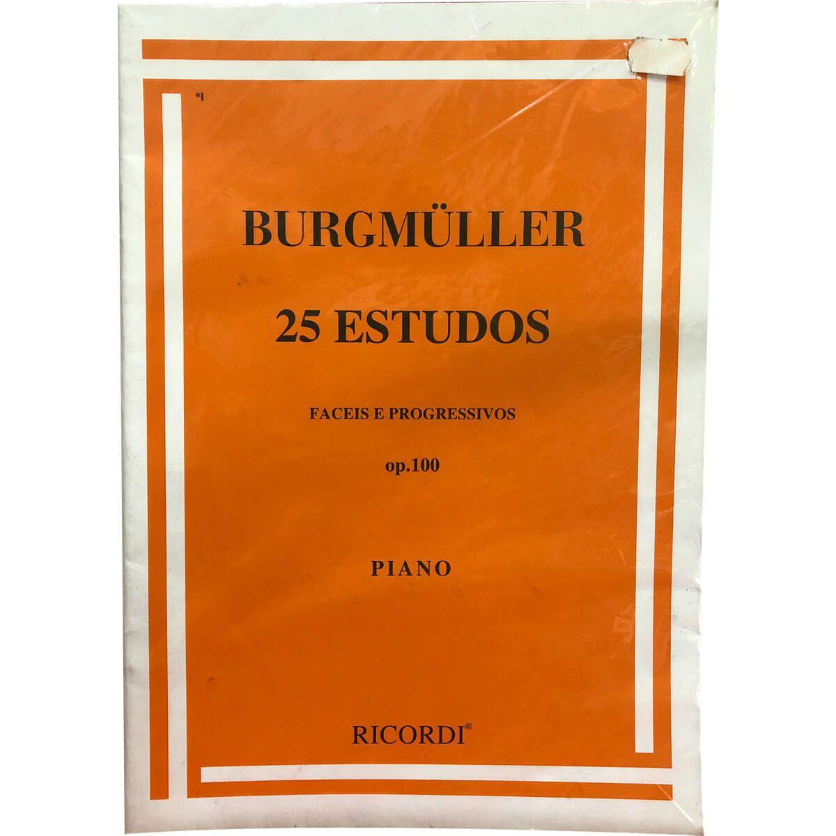 Método - Burgmuller - Piano - 25 Estudos Fáceis E Progressivos - Ricordi