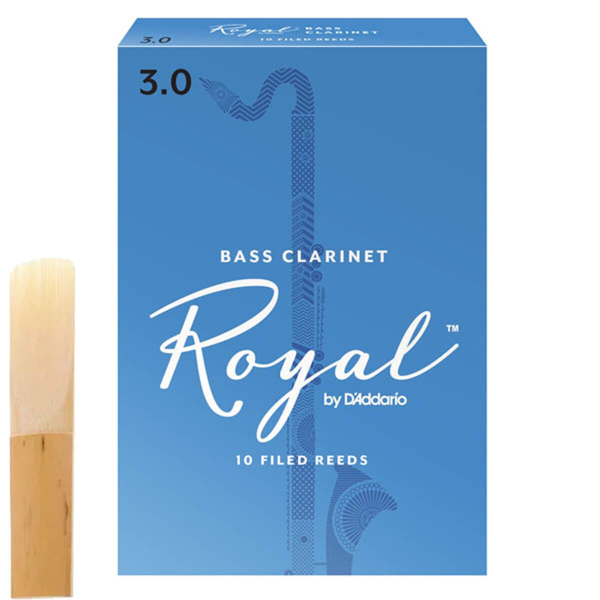 Palheta Para Clarone Baixo - Rico Royal