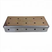 Caixa Smoker Box para defumação Aço Inox 22 x 9 cm Artmill