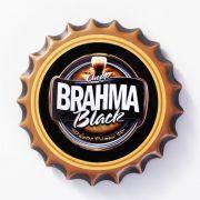 Placa Cerâmica Decorativa de parede Brahma Black 22 cm
