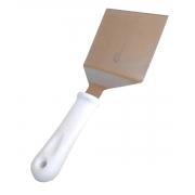 Espátula Curva Aço Inox Cabo Polipropileno Branco 10 cm SQ