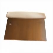 Espátula Raspadora de Cozinha Aço Inox Cabo Branco 15 cm