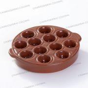 Forma Assadeira Cerâmica Provolonera 12 cavidades 19 cm Provolera