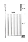 Grelha Aço Inox 304 Aramada 40 x 50 cm para Churrasco