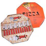Kit para Pizza Tramontina com Lâminas em Aço Inox e Cabos de Polipropileno Vermelho 14 Peças
