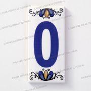 Número 0 para Casa Residência em Cerâmica Esmaltada 7,5 x 15 cm
