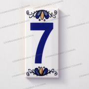 Número 7 para Casa Residência em Cerâmica Esmaltada 7,5 x 15 cm