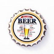 Placa Cerâmica Decorativa de parede Beer 22 cm