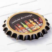 Placa Cerâmica Decorativa de parede Cantinho da Cerveja 22 cm