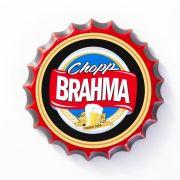 Placa Cerâmica Decorativa de parede Chopp Brahma 22 cm