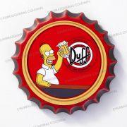 Placa Cerâmica Decorativa de parede Duff Simpsons 22 cm