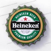 Placa Cerâmica Decorativa de parede Heineken 22 cm