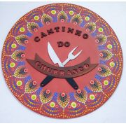 Placa Decorativa Cantinho do Churrasco Pintura Livre 35 cm CC-10