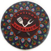 Placa Decorativa Cantinho do Churrasco Pintura Livre 35 cm CC-20