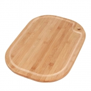 Tábua de corte para Churrasco e Cozinha de Bambu Oval 39 x 28 cm