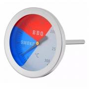 Termômetro Analógico Aço Inox 300°C Haste Curta