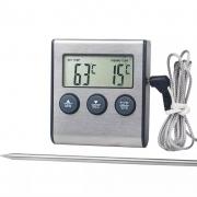 Termômetro Digital para Defumação Aço Inox 300°C