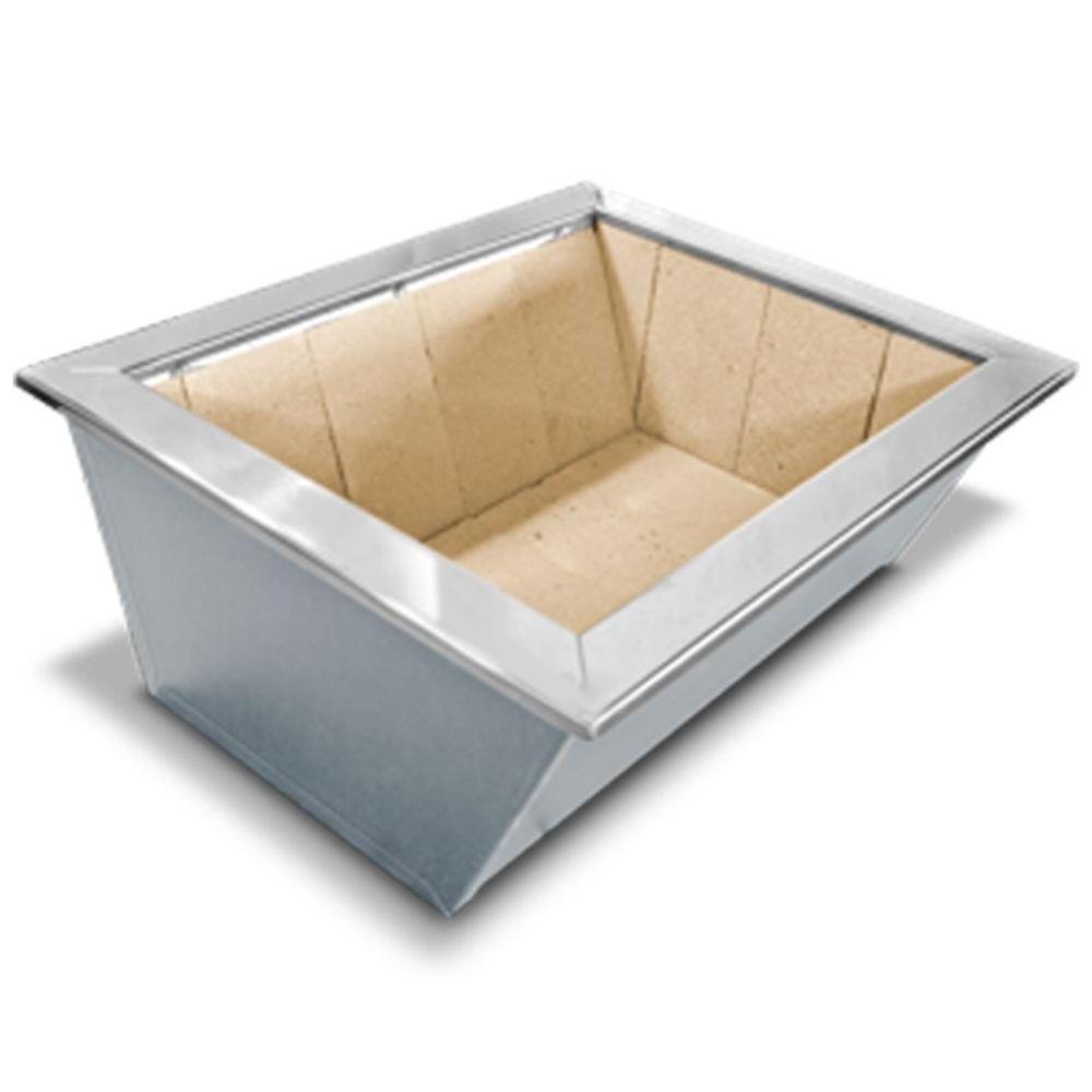 Braseiro de Embutir Cooktop em Aço Inox Caixa Dupla 74 x 54 cm para Churrasqueira
