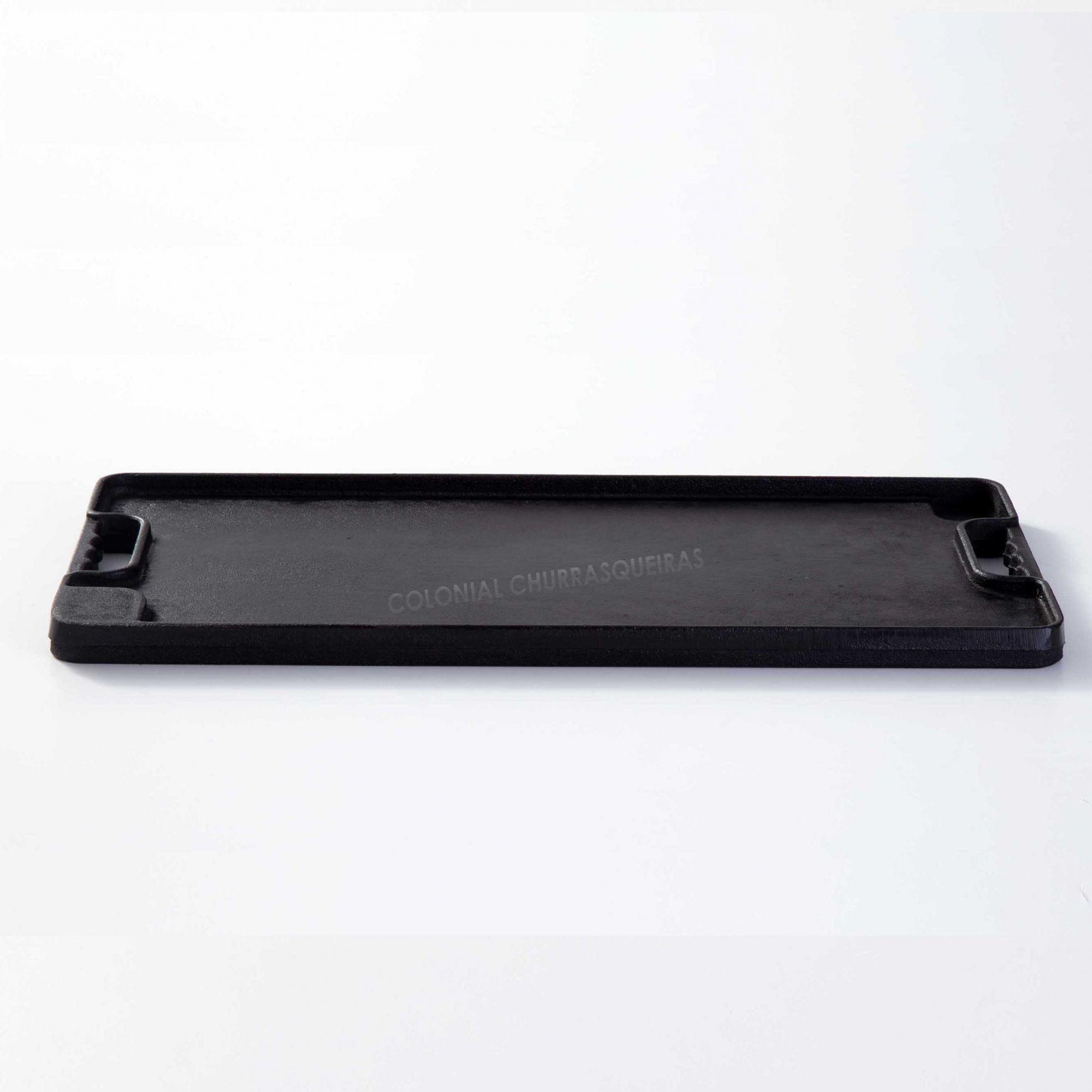Chapa Bifeteira Retangular Dupla Face Lisa / Estriada 25 x 50 cm