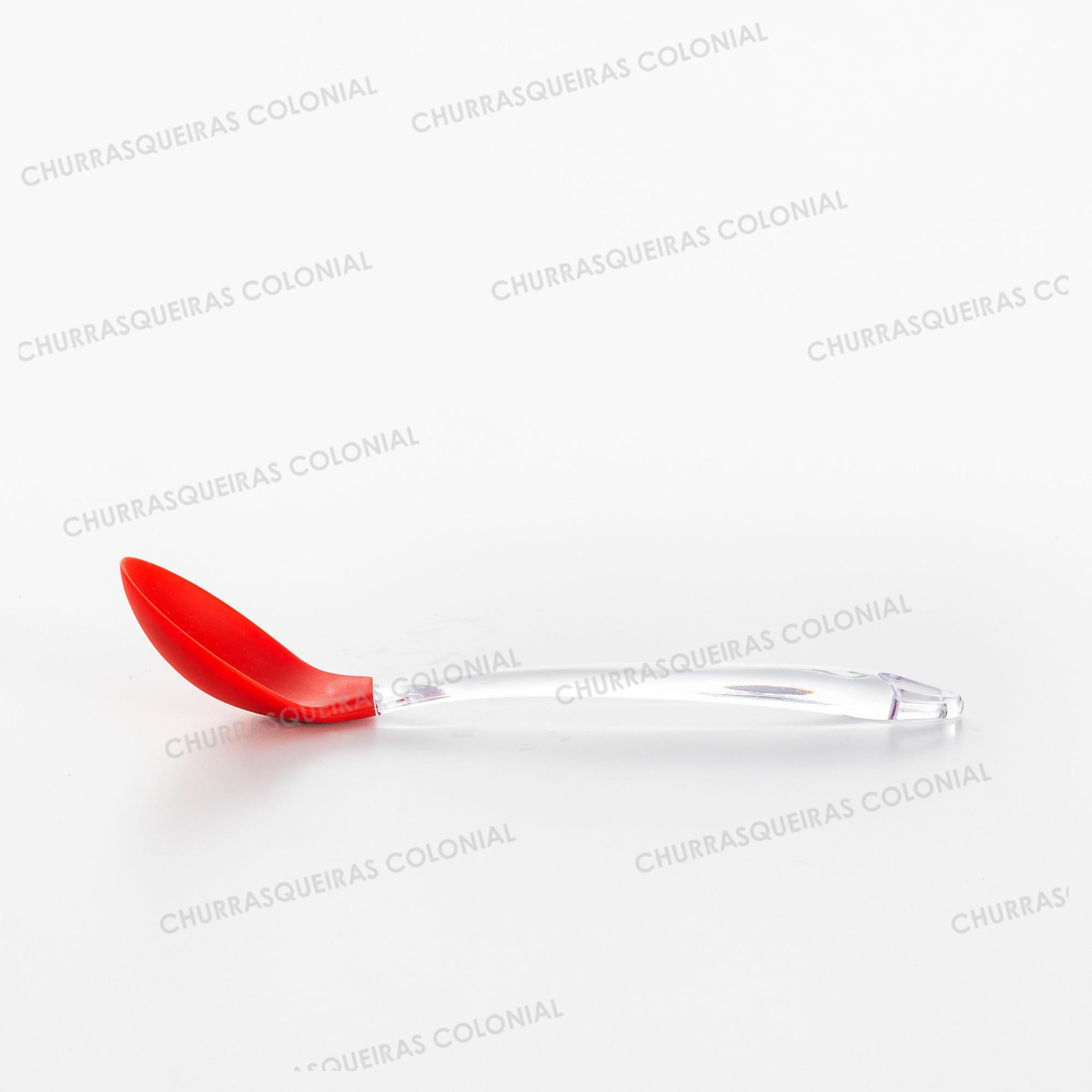 Colher de Silicone Vermelho 32,5 cm