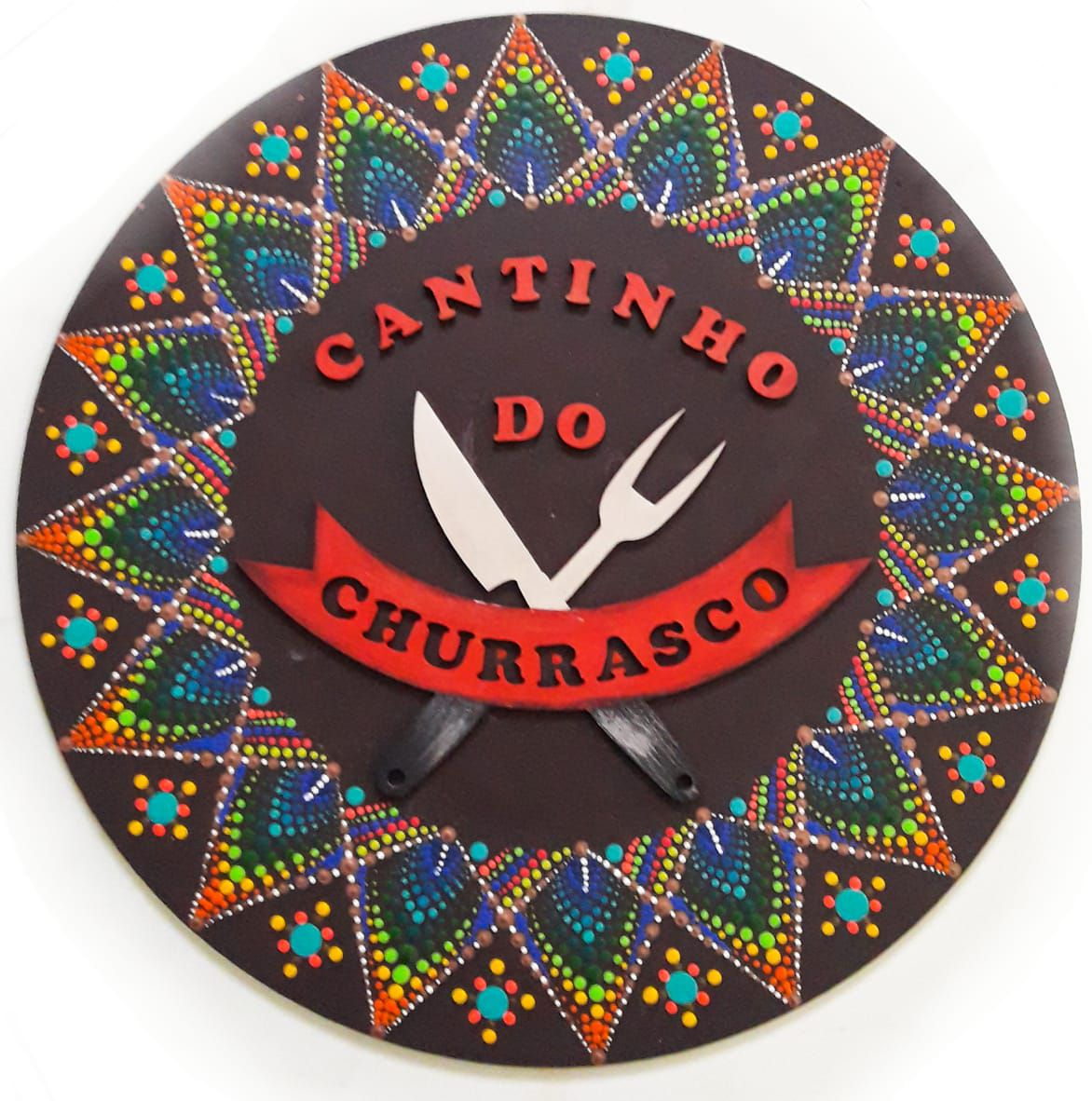 Placa Decorativa Cantinho do Churrasco Pintura Livre 35 cm CC-60
