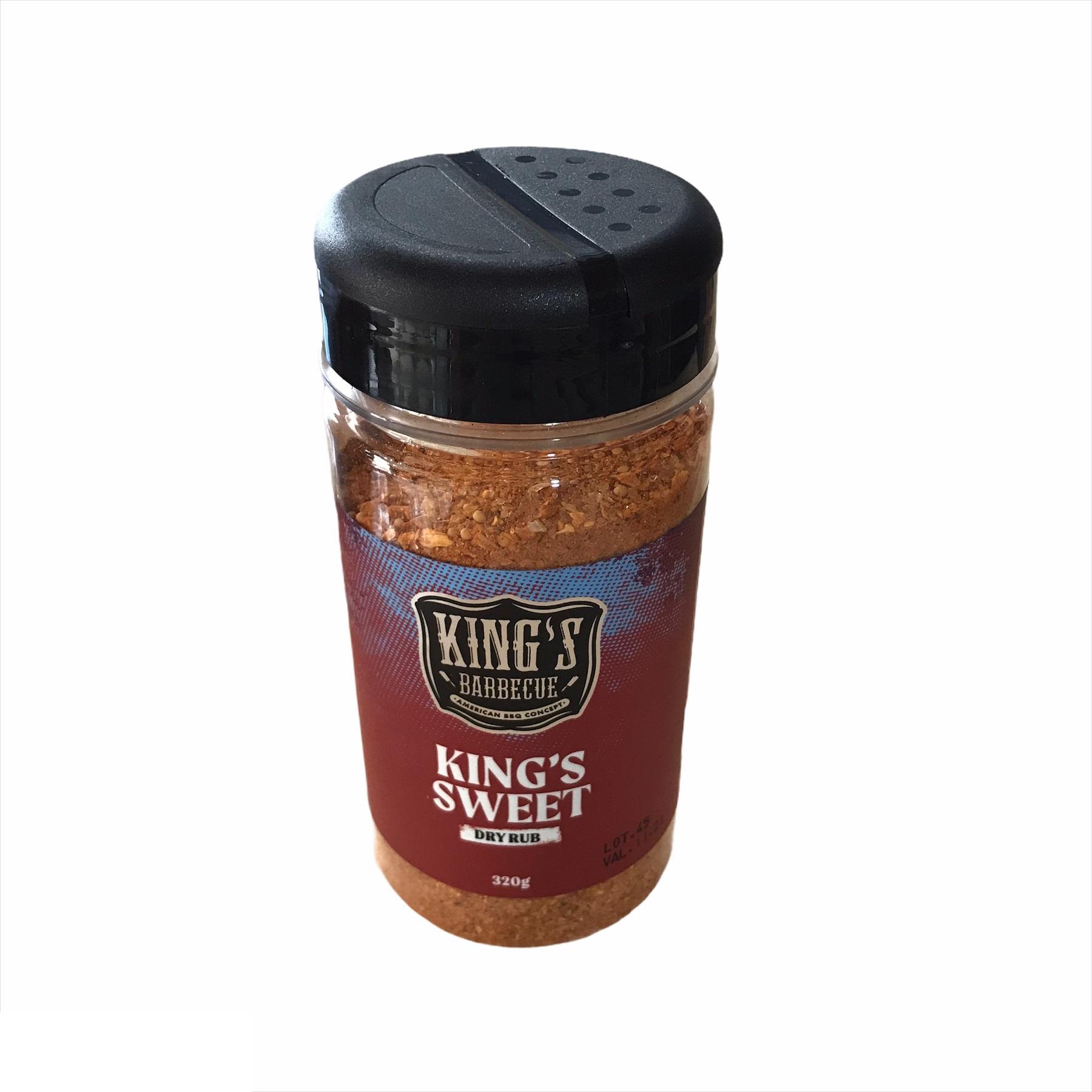 Dry Rub king's Sweet 320 gramas Kings Barbecue