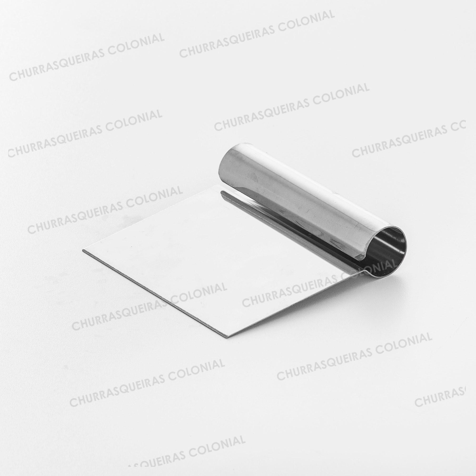 Espátula Raspadora Aço Inox com Cabo Tubular 12 cm