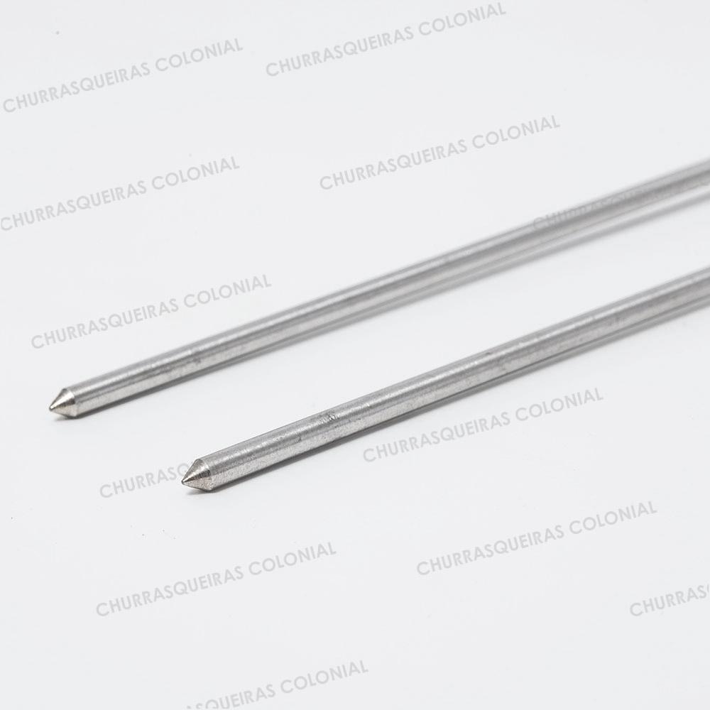 Espeto Duplo Aço Inox 304 54 cm Lavinox
