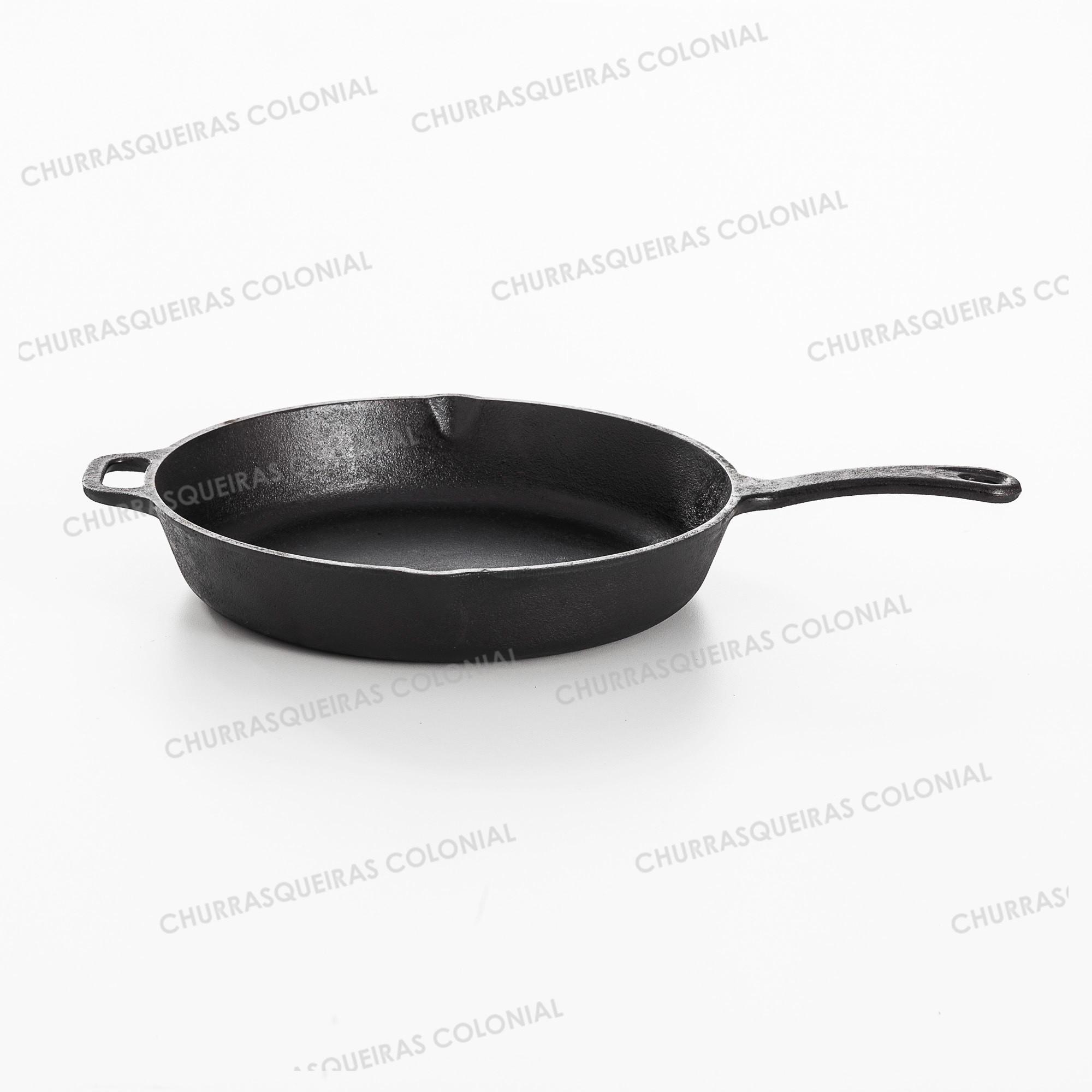 Frigideira Gourmet Ferro Fundido 3,4 Litros Cabo de Ferro 30 cm