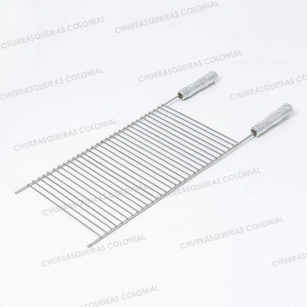Grelha Parrilla Aramada 30 x 40 cm Aço Inox 304