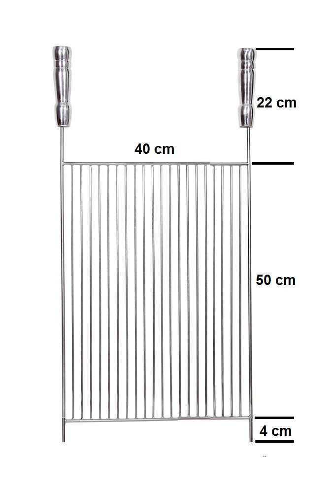 Grelha Parrilla Aramada 40 x 50 cm Aço Inox 304