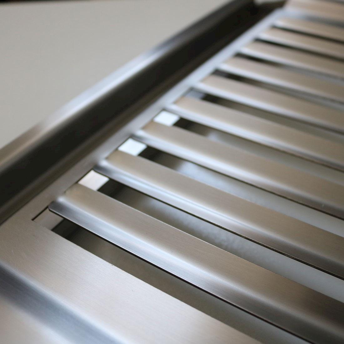 Grelha Argentina Aço Inox 430 Com Coletor de Gordura Sem Emenda 57 cm Selmetal