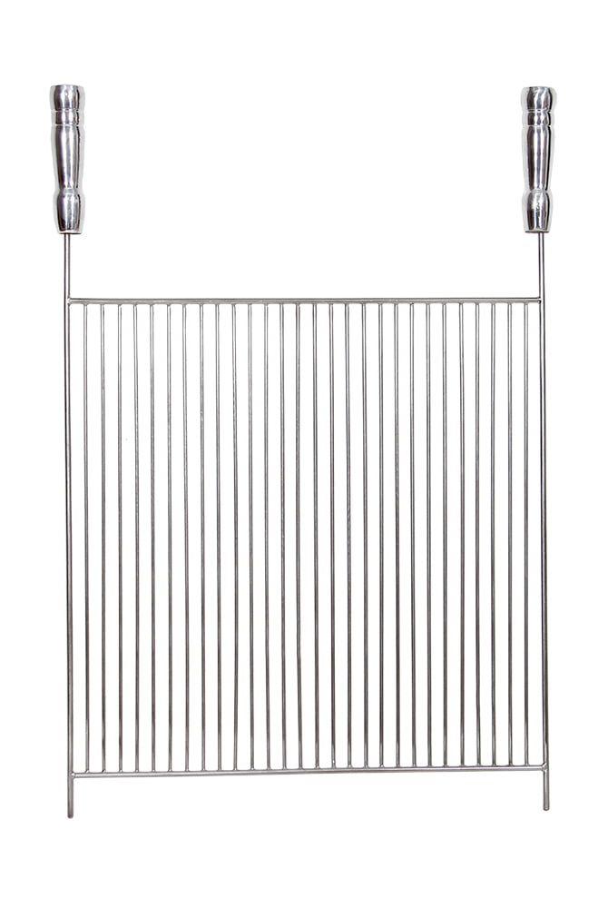 Grelha Aço Inox 304 aramada 55 x 40 cm para Churrasco