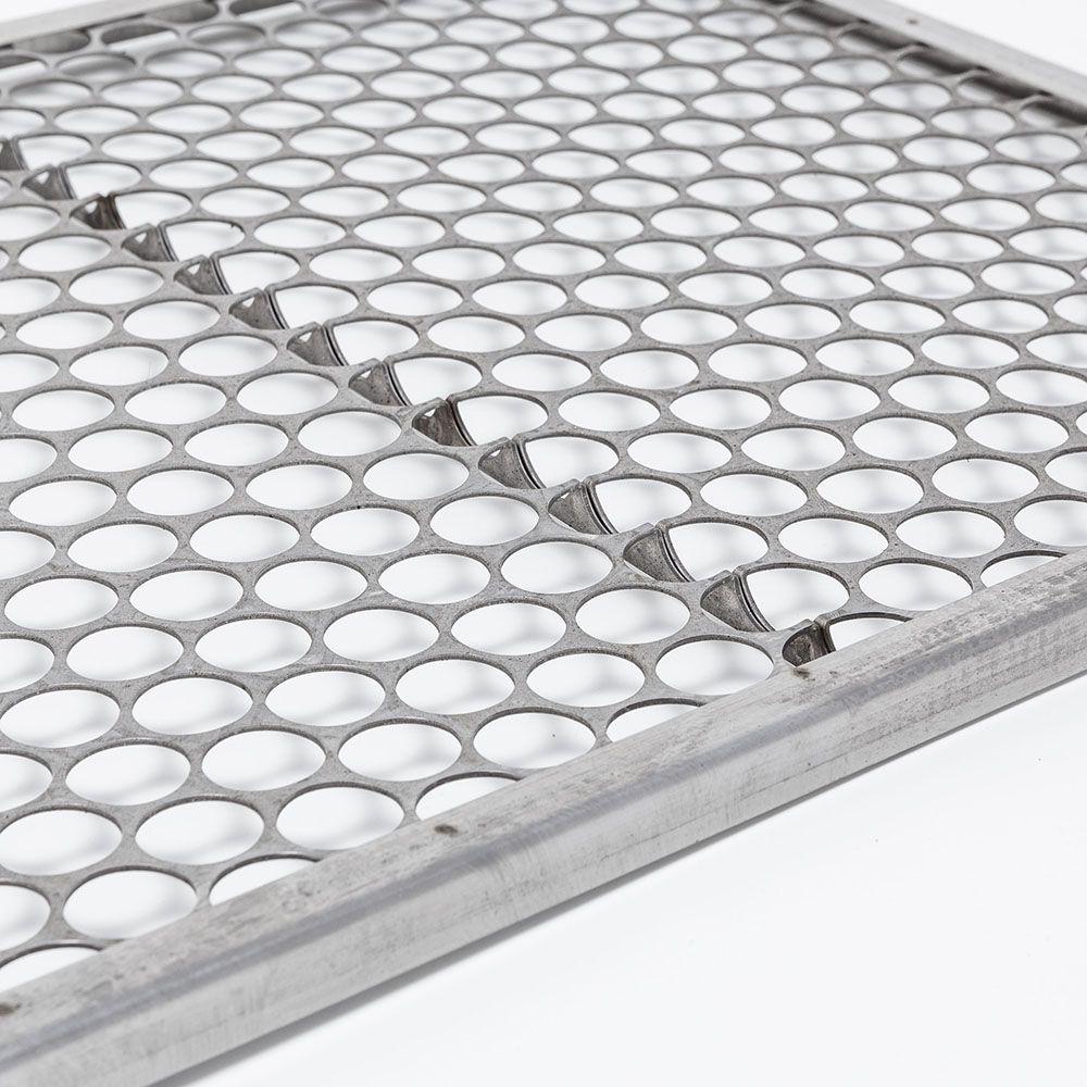 Grelha Moeda Aço Inox 40 x 40 cm para churrasco