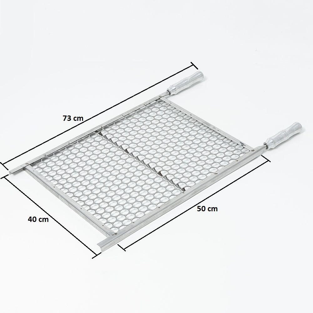 Grelha Moeda Aço Inox 40 x 50 cm para Churrasco