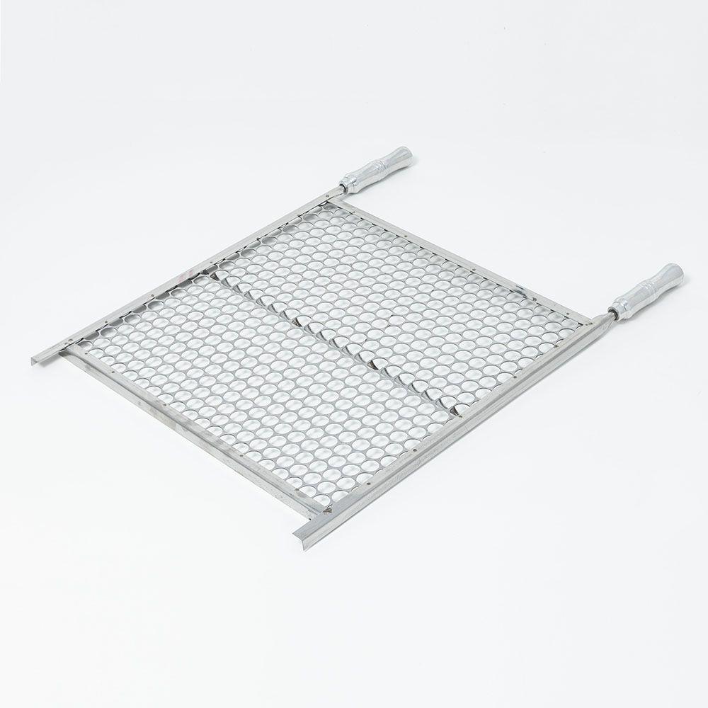 Grelha Moeda Aço Inox 50 x 50 cm para Churrasco