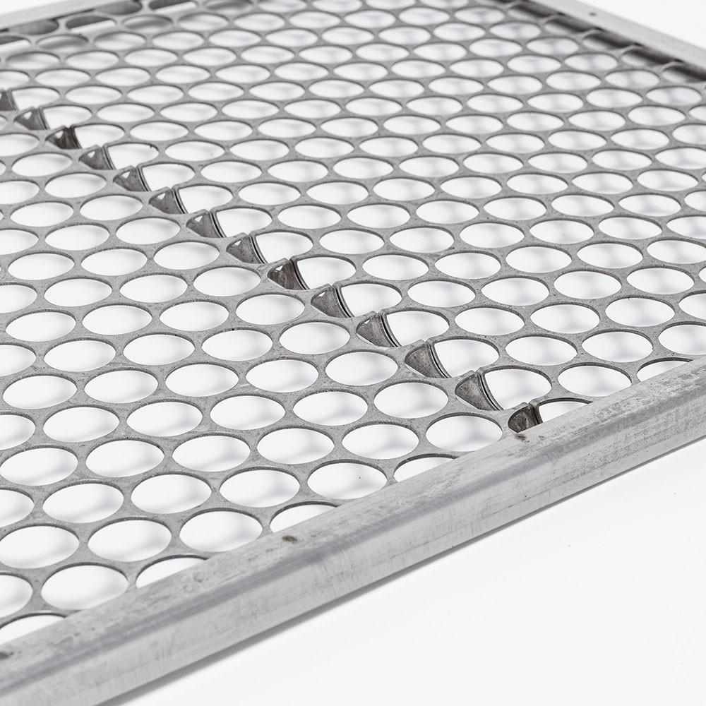 Grelha Moeda Aço Inox 55 x 50 cm para Churrasco