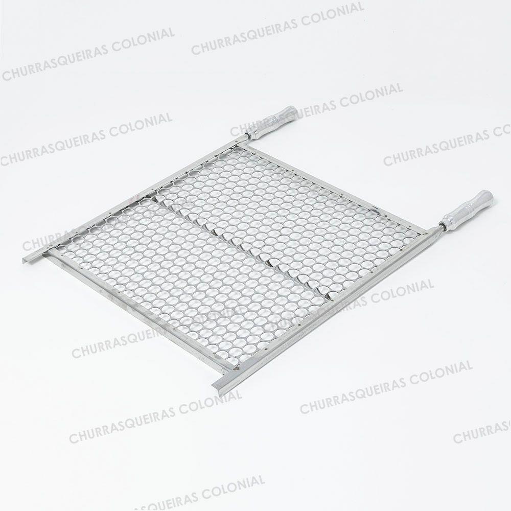 Grelha Moeda Aço Inox 60 x 40 cm para Churrasco