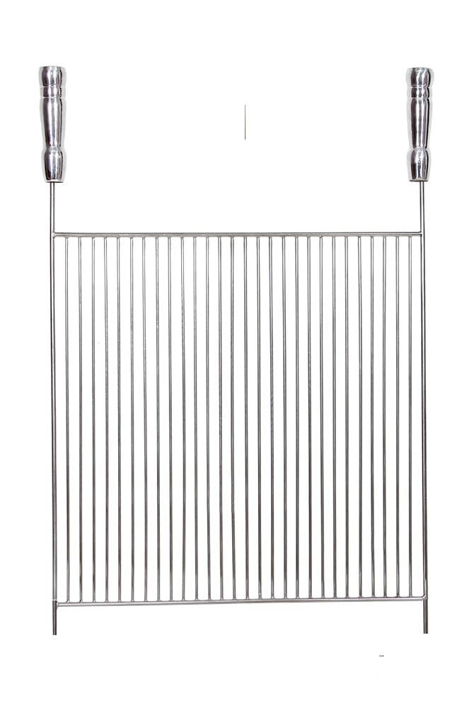 Grelha Aço Inox 304 Aramada 60 x 40 cm para Churrasco