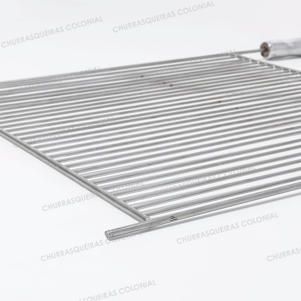 Grelha para Churrasco Aço Inox 304 Aramada 45 x 50 cm