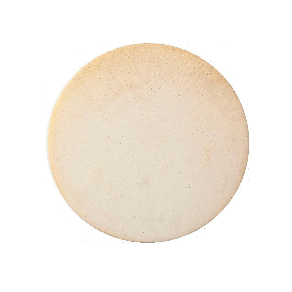 Kit 3 peças para Pizza na Churrasqueira com Placa Refratária 35 cm Pá 35 cm e Abafador em Alumínio 40 cm