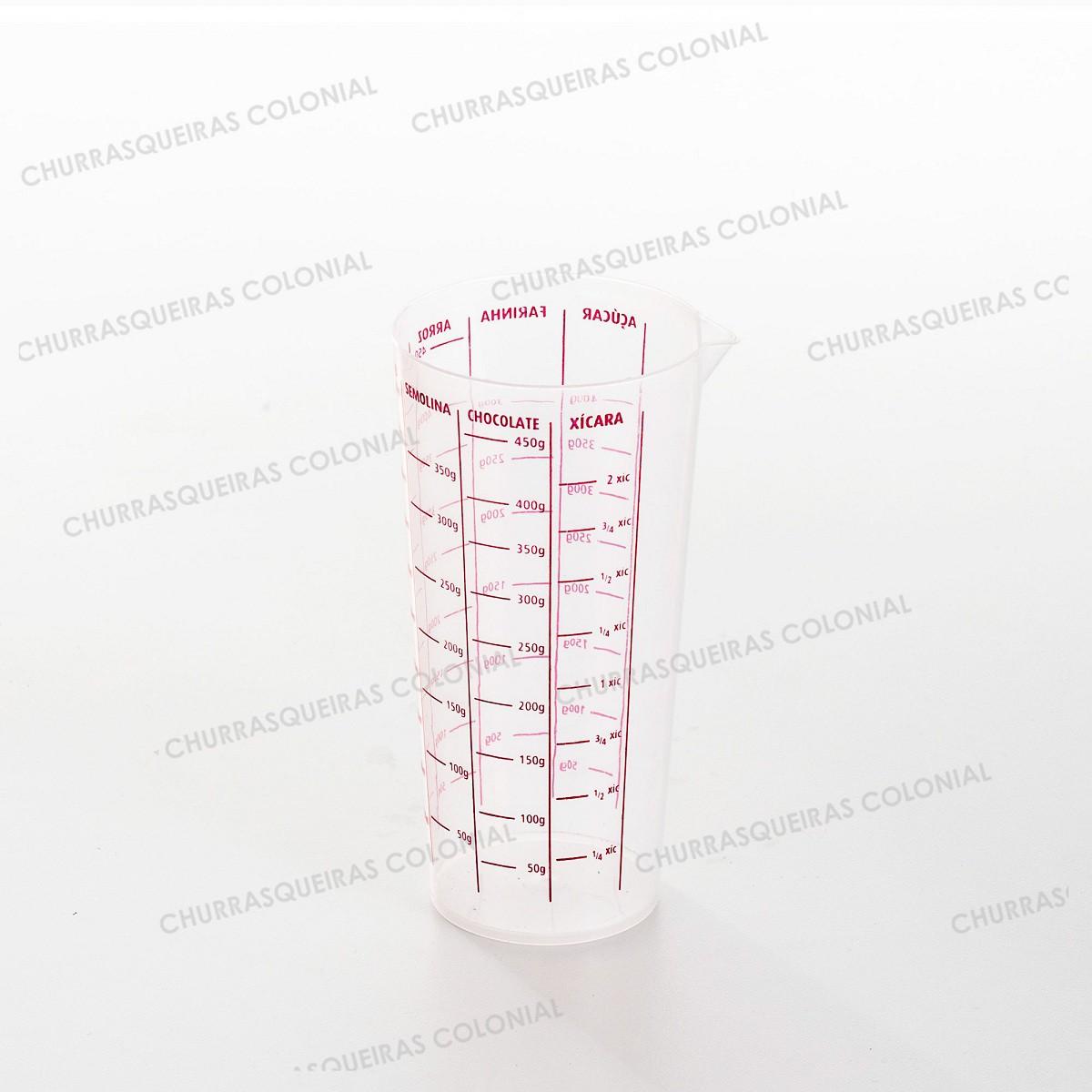 Kit Rolo Laminador de Massas Madeira 39 cm com Copo Graduado de Medidas Vermelho