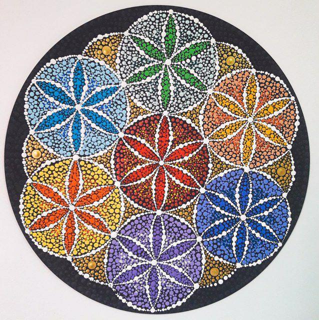 Mandala Terapêutica Decorativa de Parede 35 cm MDF com Pintura Livre