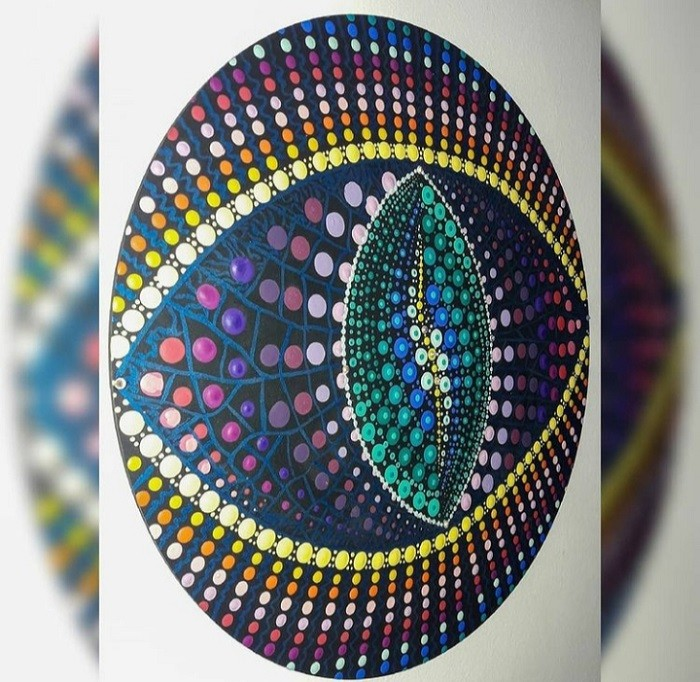 Mandala Terapêutica Decorativa de Parede 35 cm MDF com Pintura Livre MD-95